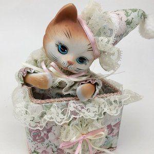 Vintage Dancing Cat Clown Music Box
